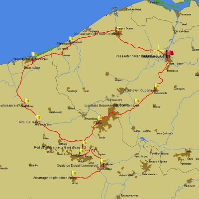 Summer 2020, section 2: Ghent - Lille - Ghent  to enlarge
